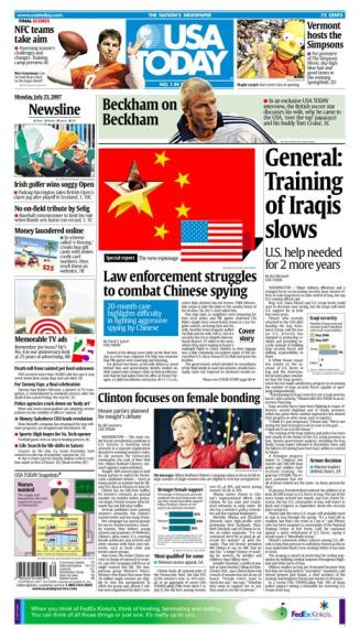 7/23/2007 Issue of USA TODAY