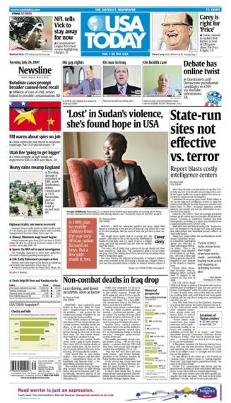 7/24/2007 Issue of USA TODAY