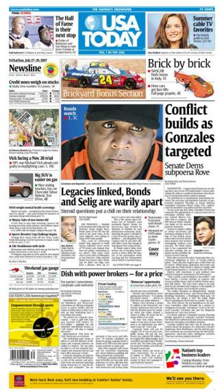 7/27/2007 Issue of USA TODAY