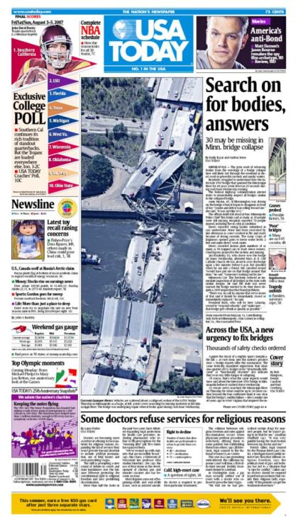 8/03/2007 Issue of USA TODAY