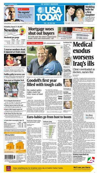8/17/2007 Issue of USA TODAY