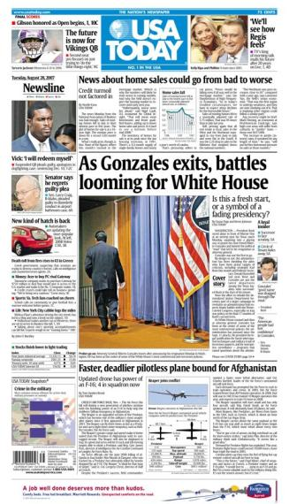 8/28/2007 Issue of USA TODAY