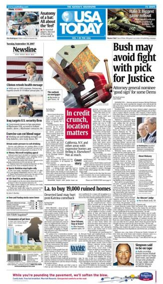 9/18/2007 Issue of USA TODAY