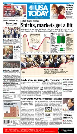 9/19/2007 Issue of USA TODAY