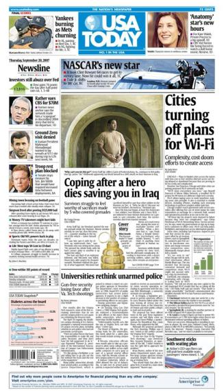 9/20/2007 Issue of USA TODAY