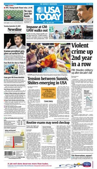 9/25/2007 Issue of USA TODAY