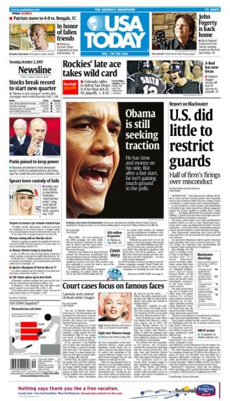 10/02/2007 Issue of USA TODAY