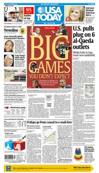 10/05/2007 Issue of USA TODAY