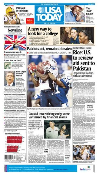11/05/2007 Issue of USA TODAY