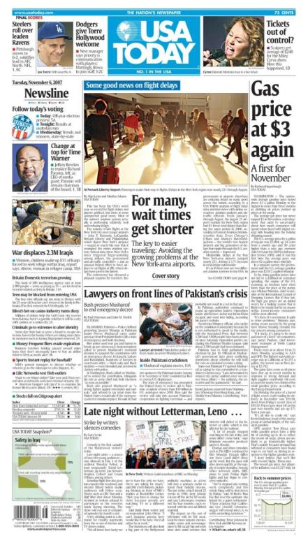 11/06/2007 Issue of USA TODAY