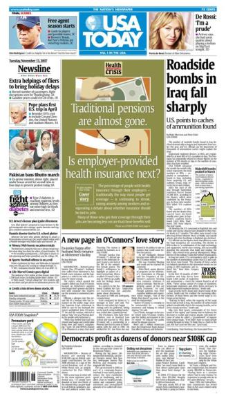 11/13/2007 Issue of USA TODAY