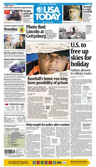 11/16/2007 Issue of USA TODAY