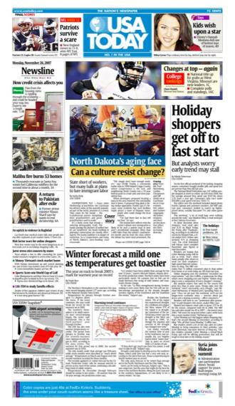 11/26/2007 Issue of USA TODAY