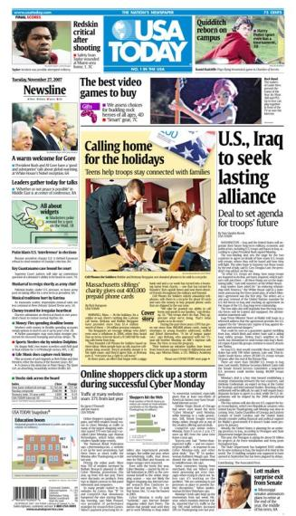 11/27/2007 Issue of USA TODAY