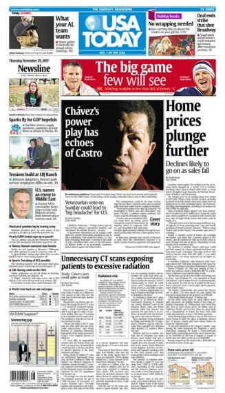11/29/2007 Issue of USA TODAY