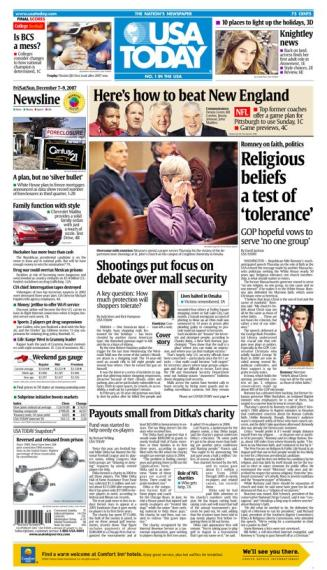 12/07/2007 Issue of USA TODAY