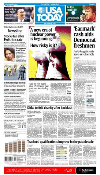 12/12/2007 Issue of USA TODAY