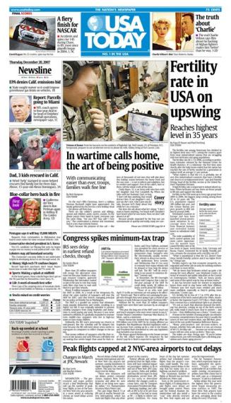 12/20/2007 Issue of USA TODAY
