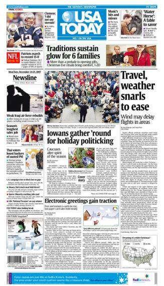 12/24/2007 Issue of USA TODAY