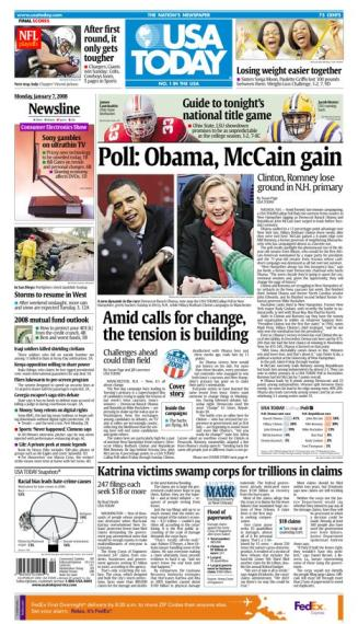 01/07/2008 Issue of USA TODAY