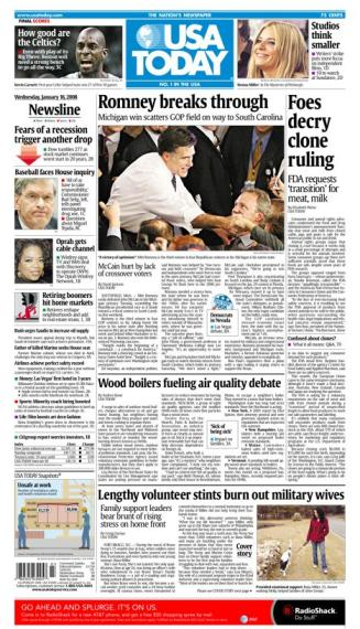 01/16/2008 Issue of USA TODAY