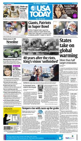 01/21/2008 Issue of USA TODAY