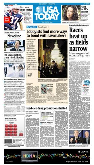 01/31/2008 Issue of USA TODAY