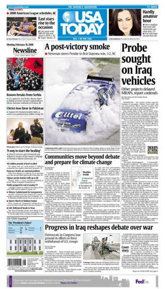02/18/2008 Issue of USA TODAY