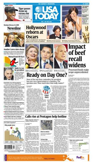 02/25/2008 Issue of USA Today