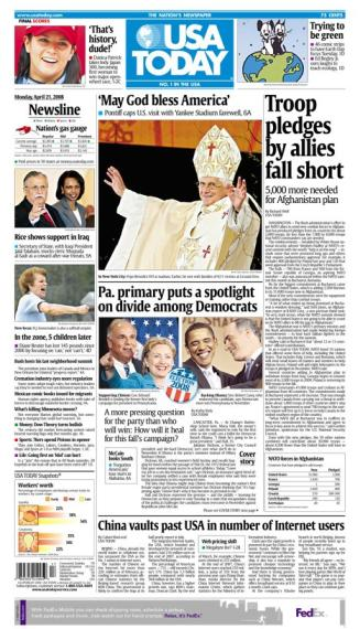 04/21/2008 Issue of USA Today