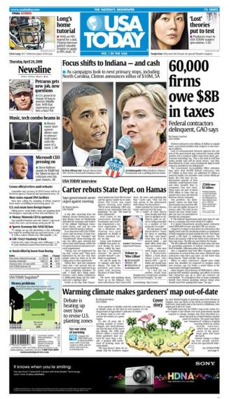 04/24/2008 Issue of USA Today