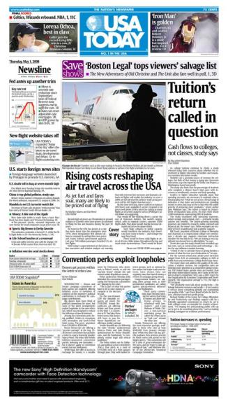 05/01/2008 Issue of USA Today