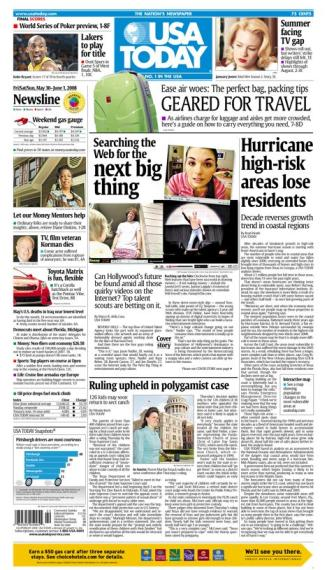 05/30/2008 Issue of USA TODAY