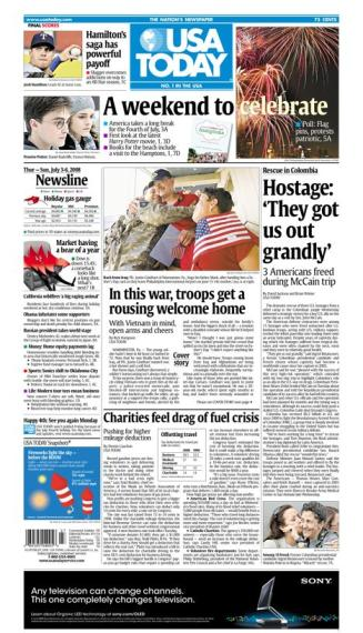 07/03/2008 Issue of USA TODAY