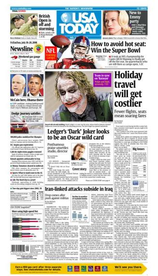 07/18/2008 Issue of USA TODAY
