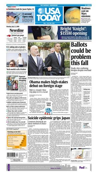 07/21/2008 Issue of USA TODAY