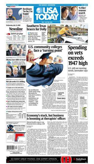 07/23/2008 Issue of USA TODAY