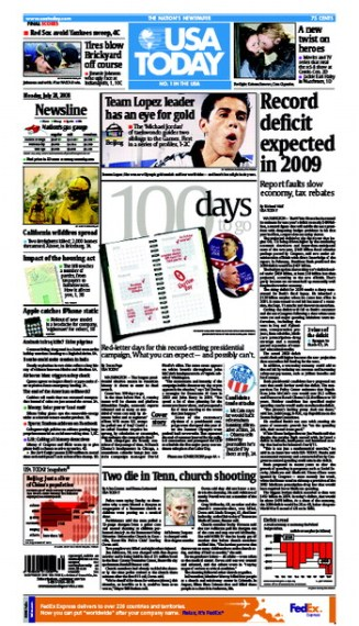 07/28/2008 Issue of USA TODAY