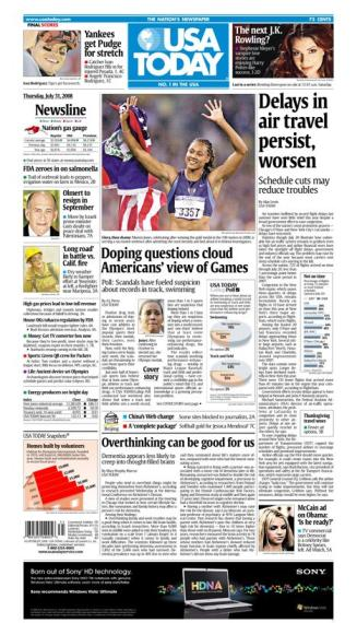 07/31/2008 Issue of USA TODAY