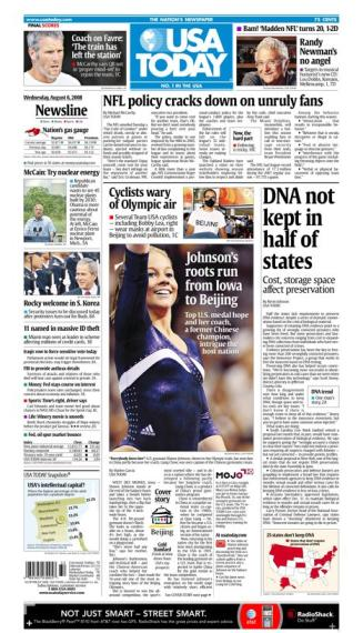 08/06/2008 Issue of USA TODAY