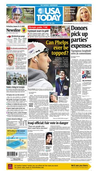 08/15/2008 Issue of USA TODAY