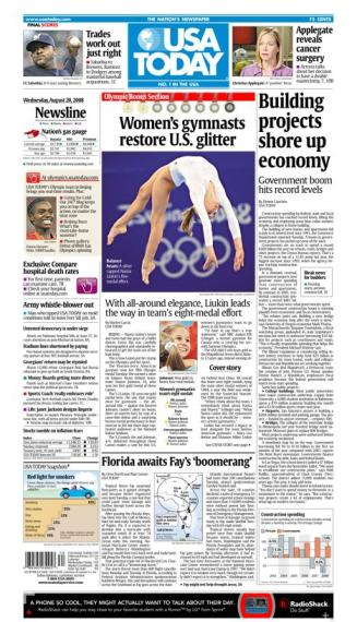 08/20/2008 Issue of USA TODAY