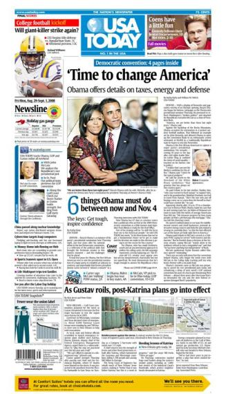 08/29/2008 Issue of USA TODAY