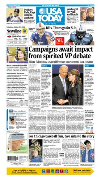 10/03/2008 Issue of USA TODAY