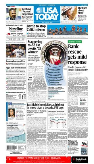 10/15/2008 Issue of USA TODAY