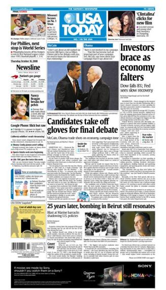 10/16/2008 Issue of USA TODAY