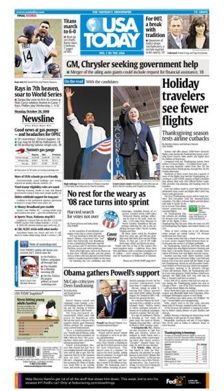 10/20/08 Issue of USA TODAY