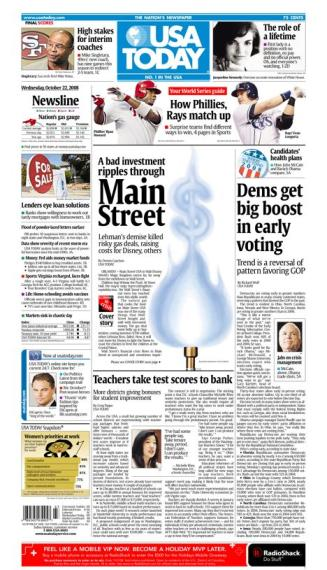 10/22/08 Issue of USA TODAY