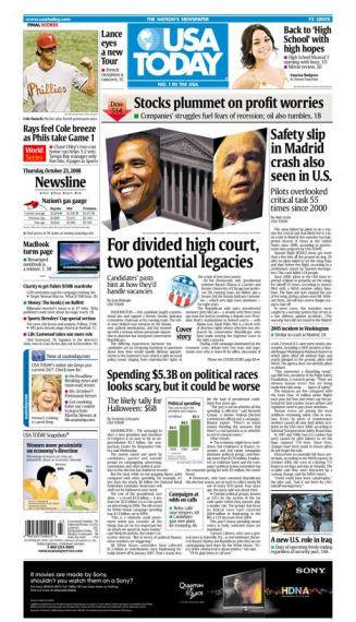 10/23/08 Issue of USA TODAY