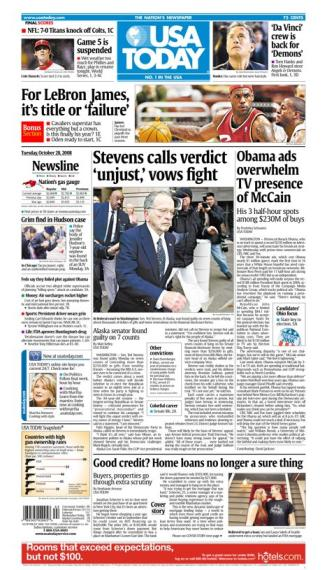 10/28/2008 Issue of USA TODAY